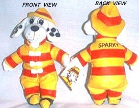 Sparky The Fire Fighter Dog Official Bean Bag